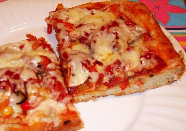 Рецепт пицца с ветчиной