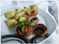 Babeczki mięsne z pieczarką i otrębami