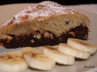 Bananowe ciasto z kakao i orzechami