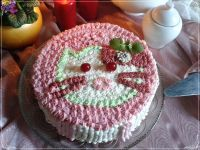 Biało-różowy tort dla dziewczynki