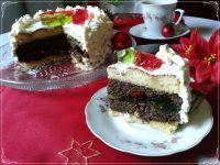 Bożonarodzeniowy torcik makowy z galaretką