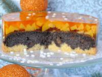 Brzoskwiniowo-makowy torcik