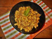 Cavatappi z mięsem i kukurydzą