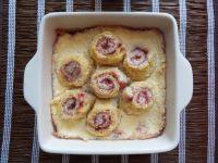 Chlebowe ślimaczki w puddingu