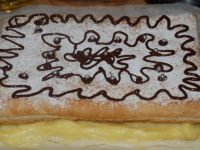 Ciasto francuskie z kremem karpatkowym