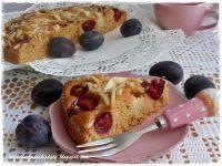 Ciasto kajmakowe ze śliwkami i jabłkami