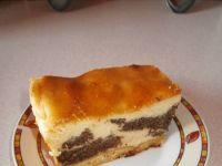Ciasto sernikowo-makowe zwane seromakowcem
