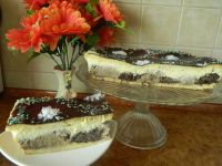 Ciasto serowo-makowo-orzechowe