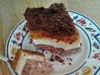 Ciasto śmietanowo - brzoskwiniowo - czekoladowe