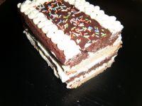 Ciasto tortowe ucierane z masą budyniową