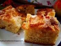 Ciasto ucierane z jabłkiem