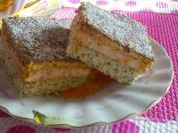 Ciasto z budyniem malinowym