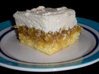Ciasto z jabłkami i kremem