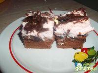 Ciasto z nutellą i bitą śmietaną