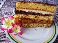 Ciasto z nutellą i brzoskwiniami