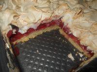 Ciasto z truskawkami i bezą