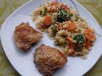 Cytrynowo-rozmarynowy kurczak z kaszą bulgur