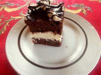 Czekoladowe ciasto z kremem kokosowym