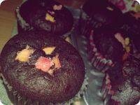 Czekoladowe muffiny z rabarbarem