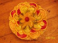 Dekorację z pomarańczy i galaretek