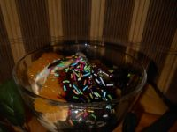 Deser lodowy z polewą czekoladową