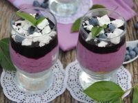 Deser serowo-borówkowy