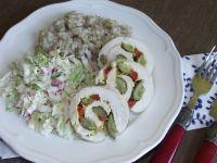 Drobiowe roladki gotowane w foli spożywczej