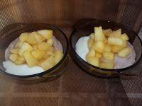 Dwukolorowa kaszka z jabłkami