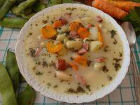 Fasolowa zupa boczkiem