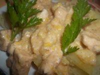 Filet z kurczaka z porem w sosie śmietanowym