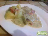 filety rybne na warzywach pod śmietanką*