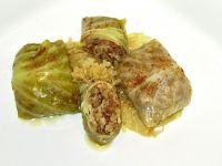 Gołąbki pieczone z kapustą kiszoną
