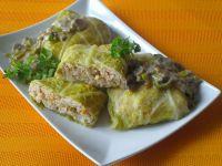 Gołąbki z papryką i sosem pieczarkowo- porowym