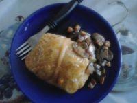 Gołąbki z siemieniem lnianym kaszą ryżem i mięsem