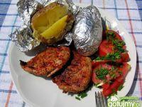 Grillowana karkówka i pieczone ziemniaki