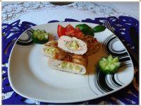 Grillowana pierś z szynką, serem i fasolką