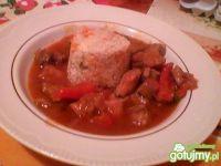 Gulasz z szynki z ryżem
