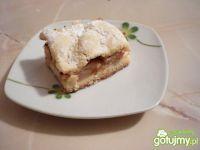 Jabłecznik z ciasta pół kruchego