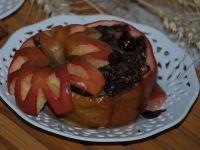 Jabłka z kaszanką z grilla