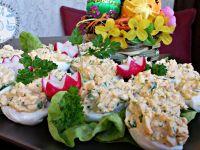 Jajka faszerowane schabem i roszponką