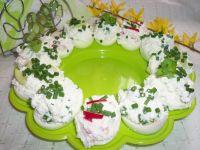Jajka nadziewane warzywnym twarożkiem