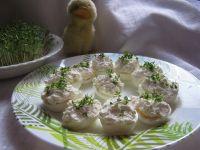 Jajka z białym serem i rzeżuchą