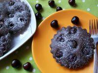 Kakaowe clafoutis z czereśniami w wersji mini
