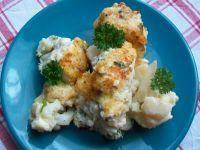 Kalafior zapiekany pod sosem serowym