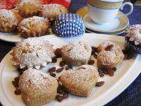 Kawowe muffinki z pomarańczą i rodzynkami