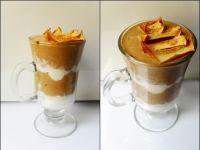 Kawowy deser z suszonym jabłkiem