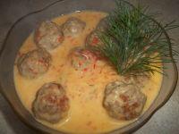 Klopsiki w sosie serowo - paprykowym