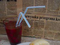 Kluski gotowane na parze z dżemem truskawkowym
