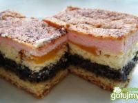 Koktajlowe ciasto makowo-serowe