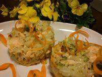 Kolorowe risotto z łososiem